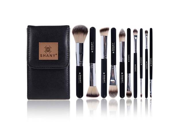 Black OMBRÉ Pro 10 PC Essential Brush Set With Travel Pouch by SHANY- объявление о продаже  в Киеве