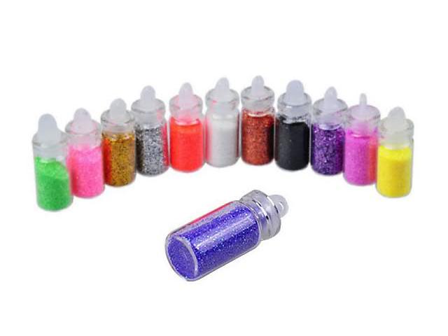 продам Блестки - глиттер порошковый для маникюра 3D в комплекте из 12 баночек с разными цветами бу в Виннице