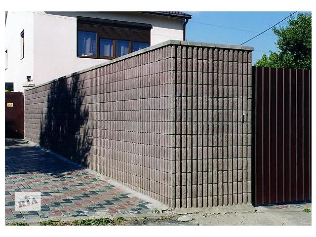бу Блок декоративный канелюрный (заборный) «Силта-Брик» в Харькове