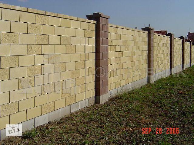 бу Блок заборный гладкий угловой в Кропивницком (Кировоград)