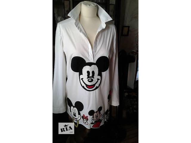 купить бу Блуза женская -рубашка с микки маусами р 46-48 в Запорожье