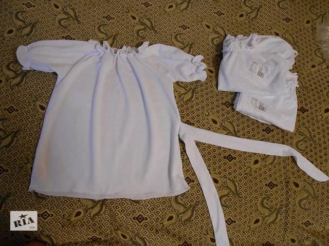 купить бу Блузка белая, с коротким рукавом, школа, р. 136, 140, 146 в Днепре (Днепропетровске)