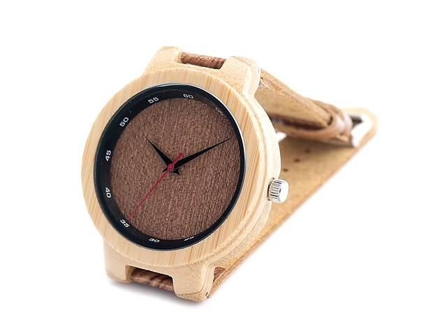 купить бу Bobo Bird эко-часы деревянный корпус , кожаный ремішок!!! в Львове