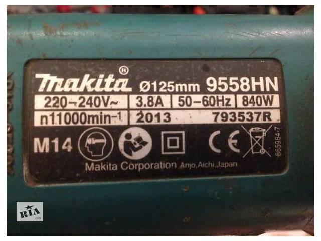 продам Болгарка угловая 125* на 840вт - makita 9558 hn - япония! бу в Виннице