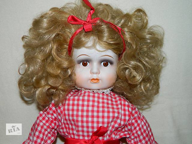 Большая Винтажная Интерьерная Фарфоровая Кукла- объявление о продаже  в Тернополе