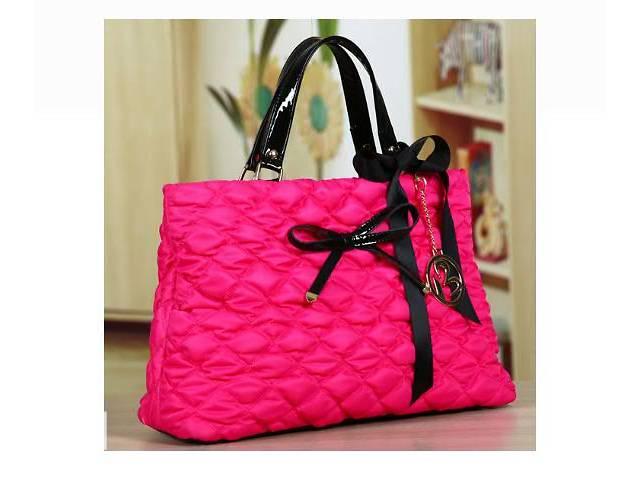 Большая стильная осенняя женская розовая сумка из текстиля- объявление о продаже  в Запорожье