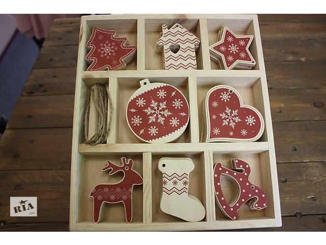 продам Большой набор деревянных ёлочных украшений на 32 игрушки бу в Одессе