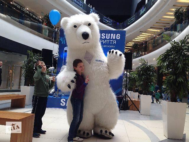 продам Ростовая кукла большой белый медведь бу  в Украине