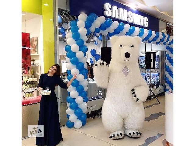 продам Большой надувной белый медведь пневмокостюм бу  в Украине