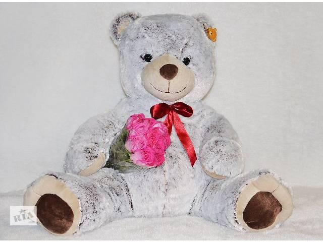 Большой серый плюшевый медведь Барни- объявление о продаже  в Кривом Роге