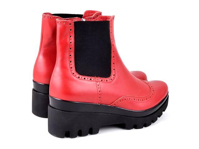 продам ботинки челси ярко красные  бу в Днепре (Днепропетровске)