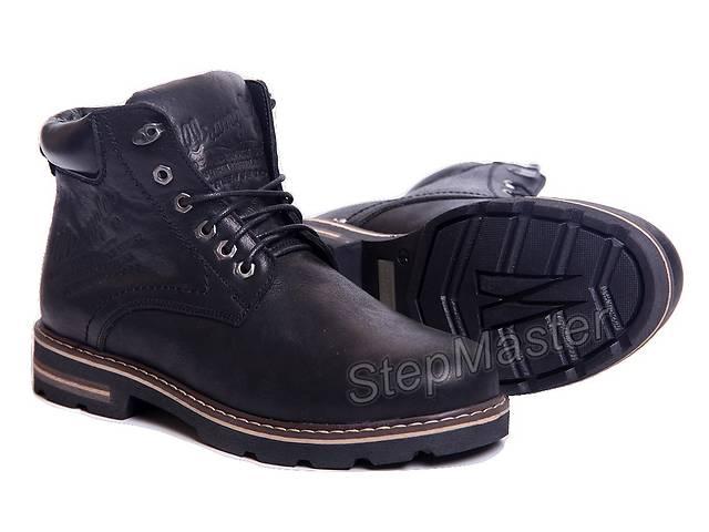 бу Ботинки кожаные Wrangler Aviator Black в Вознесенске