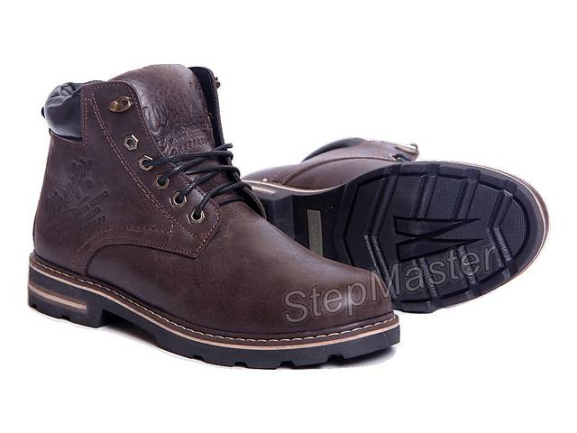 Ботинки кожаные Wrangler Aviator Brown- объявление о продаже  в Вознесенске