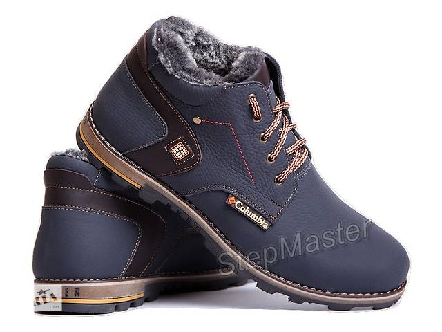 бу Ботинки кожаные зимние Columbia Winter синие в Вознесенске