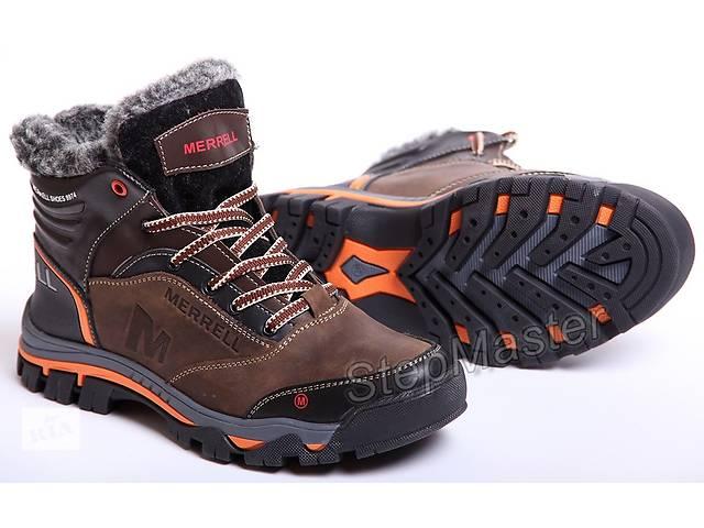 бу Ботинки кожаные зимние Merrell коричневые в Вознесенске
