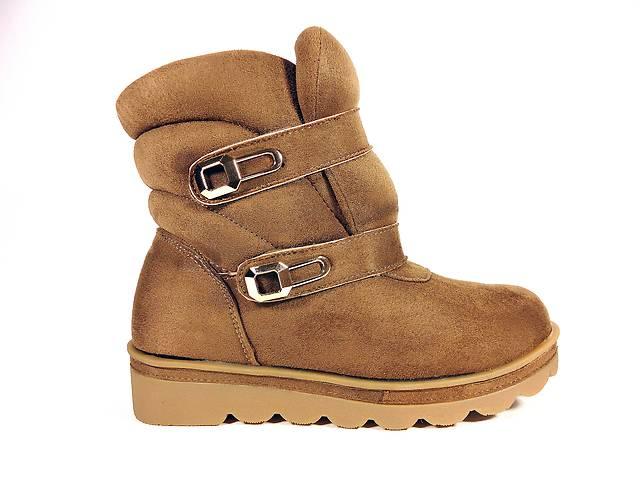купить бу Ботинки женские, зимние, замшевые, коричневые, на липучках. Размер 36-41. в Хмельницком