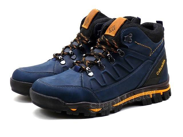 купить бу Ботинки зимние Columbia Nubuck синие в Вознесенске