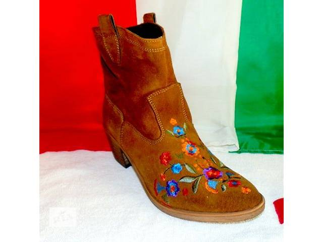 Ботинки женские замшевые Gian Marco Conti Италия 38,40- объявление о продаже  в Киеве