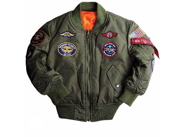 купить бу Boys Ma-1 Jacket With Patches Альфа Индастриз Куртка-ветровка детска в Киеве