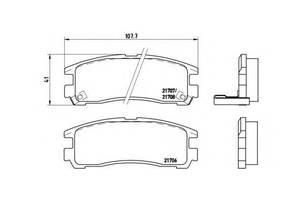 Тормозные колодки комплект Chrysler
