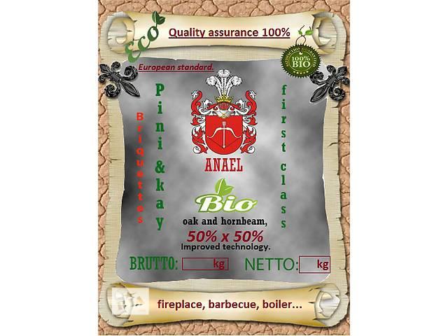 Брикеты(евродрова, биотопливо) Pini&Key высший сорт, дуб, граб и дуб+граб 50х50%!- объявление о продаже  в Виннице