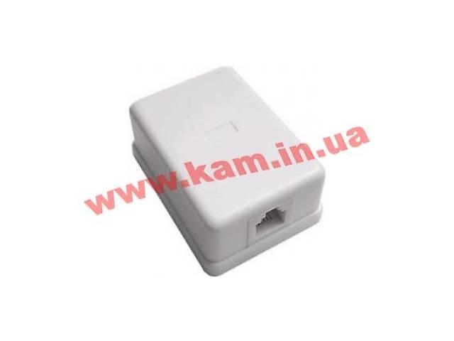 631ed3ab4556b Elko Розетка телефонная RJ12 1 порт внешняя белая (5913)