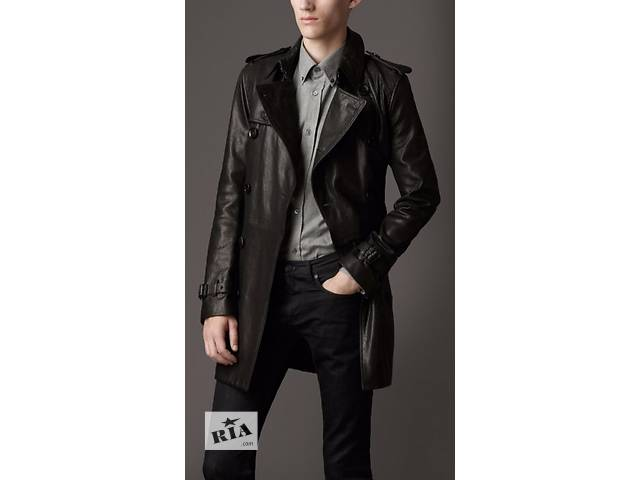 купить бу Burberry Brit Midlength Lamb Skin Trench Coat for Men в Киеве