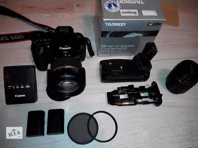 купить бу Canon 60d + kit 18-55 + бустер +батарея в Тернополе