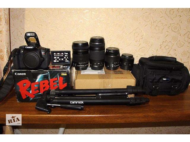 Canon 650D+4 обектива есть и 100-600-700-750d- объявление о продаже  в Каменец-Подольском