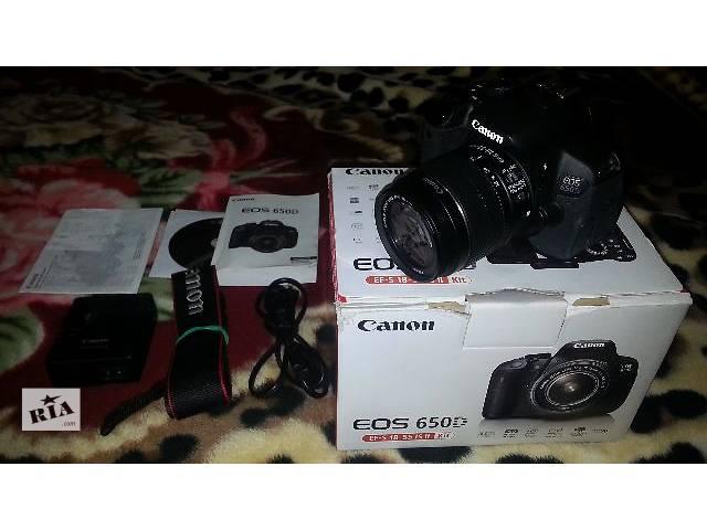 продам Canon 650D +18-55mm 75-300mm бу в Каменец-Подольском