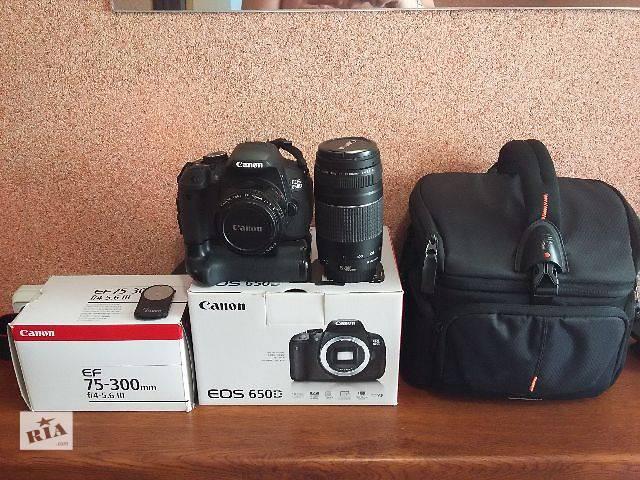 бу Canon 650d 75-300+50F1.8  в Каменец-Подольском