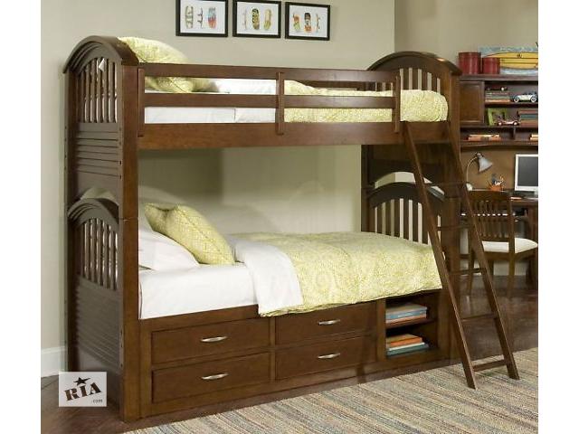 купить бу Чаплин - двухъярусная кровать из массива дерева, качество гарантировано производителем! в Киеве