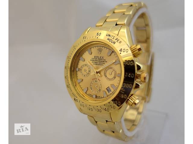 бу Часы ROLEX - Oyster Perpetual, цвет корпуса золотой, циферблат золотой в Харькове