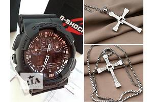 Комплект. Часы G-Shock + крест-кулон Доменика Торетто (Вин Дизеля фильм