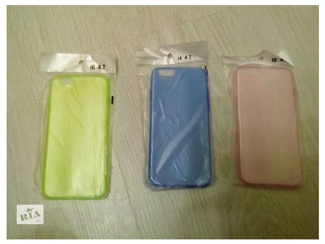 Чехол силикон на Iphone 6 цветные- объявление о продаже  в Светловодске