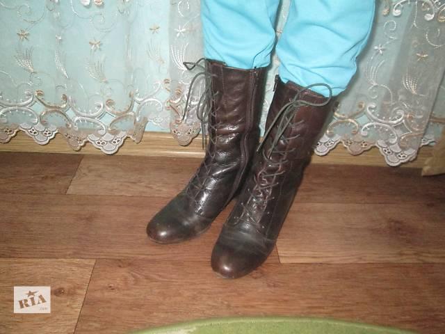 продам ботиночки кожаные бу в Ивано-Франковске