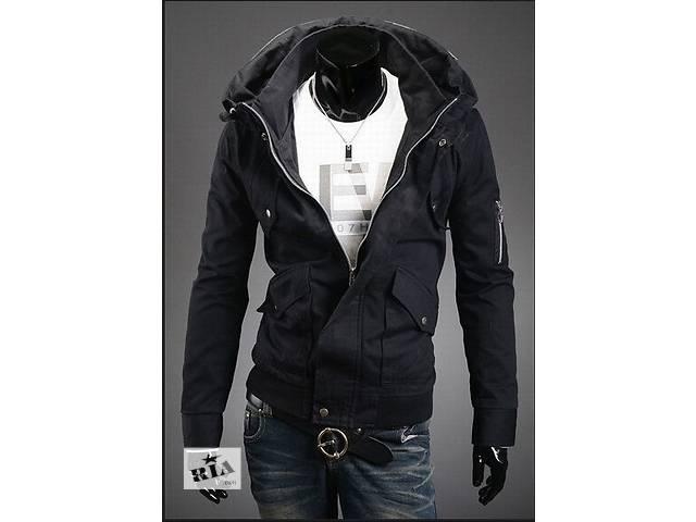 Чёрная дизайнерская куртка с необычным воротом- объявление о продаже  в Черкассах