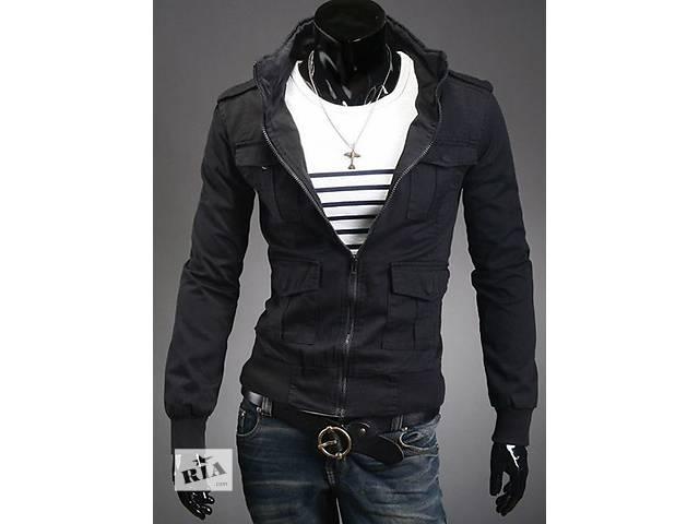 купить бу Чёрная куртка с карманами на кнопках. в Черкассах
