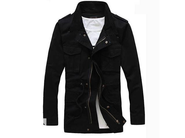 Черная мужская куртка на флисе- объявление о продаже  в Черкассах