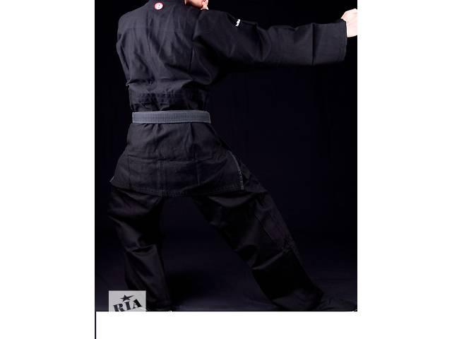 бу Черное плетеное кимоно (ДО.ГИ) для единоборств в Киеве