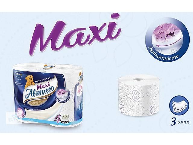 Трехслойная туалетная бумага Almusso Maxi Польша Оптом и в Розницу- объявление о продаже  в Нововолынске