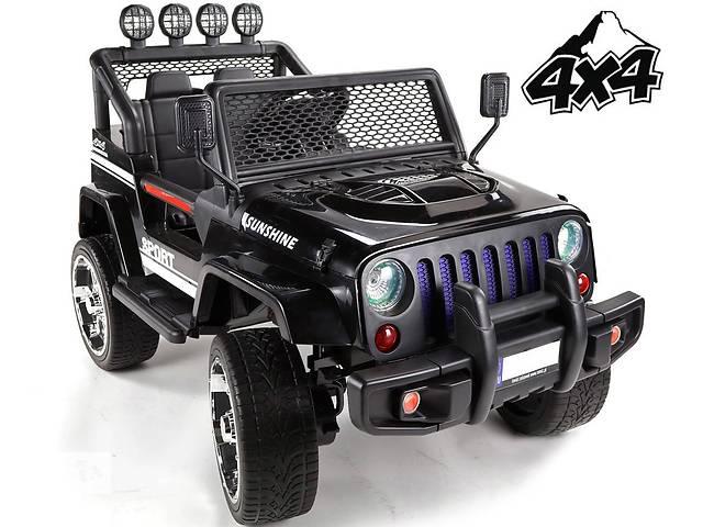 продам Детский электромобиль Jeep 4x4 полноприводный на резиновых колесах EVA бу в Львове