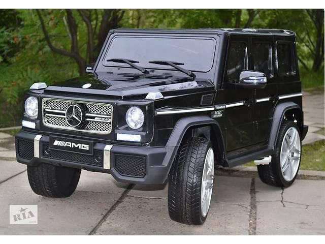 продам Детский электромобиль Mercedes AMG G65 VIP: кузов с автопокраской, кож. сидение и резиновые колеса EVA бу в Львове