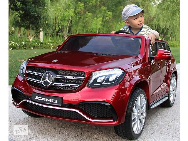 продам Детский электромобиль Mercedes AMG GLS63: двухмесный, 2 акумулятора и 4 мотора бу в Львове