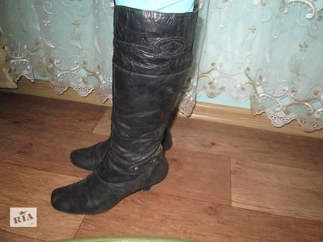 сапоги осенние кожаные- объявление о продаже  в Ивано-Франковске