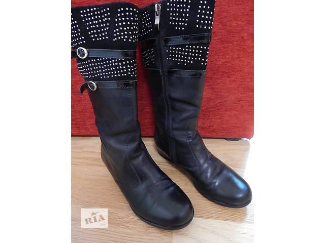 Сапоги кожаные фабричные- объявление о продаже  в Львове