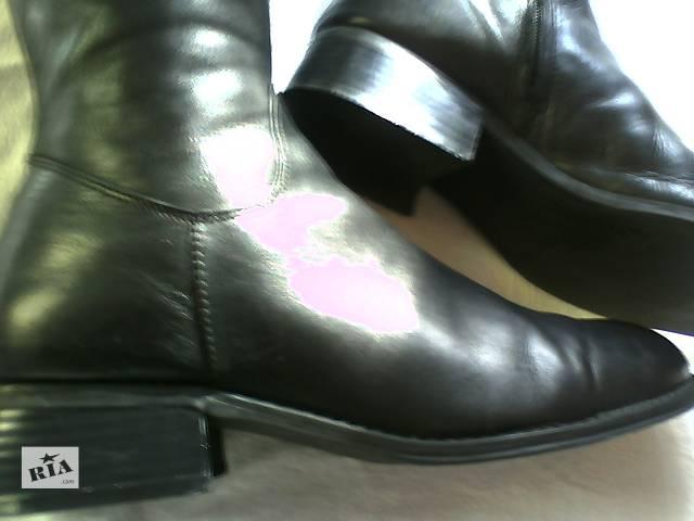 продам Высокие кожаные сапоги женские Janet D Германия 40р. бу в Львове