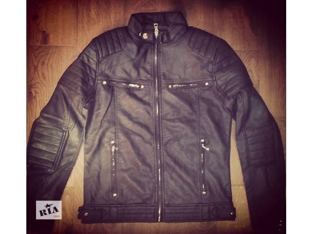 купить бу Мужская куртка из экокожи в Тернополе