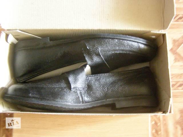 Мужские туфли. Натуральная кожа. Новые.- объявление о продаже  в Ромнах