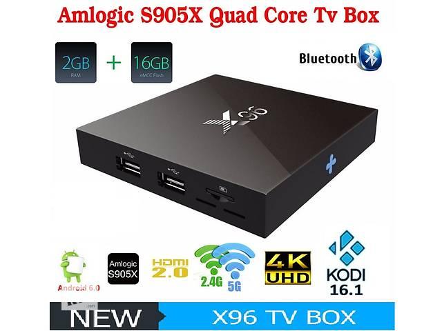купить бу X96 - Cмарт ТВ приставка на Android 6.0, Amlogic S905X, 2/16Gb (Full version) в Киеве